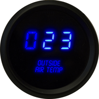 "LED Digital Outside Air Temperature Gauge 2 1/16"" 0 to 250 Degrees  F°  black bezel (sender included)"