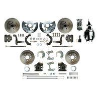 "Power Front Conversion with 8"" Chrome Brake Booster & Master, Calipers & more"