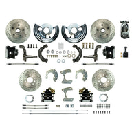 Manual 4 Wheel Conversion w/ Chrome Master, 4 Black Clprs, 4 Perf. Rotors & more