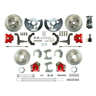 Manual 4 Wheel Conversion w/ Chrome Master, 4 Red Clprs, 4 Perf. Rotors & more