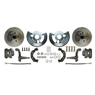 Front Wheel Kit, 2 Calipers, Rotors, Spindles, Caliper Brackets & Backing Plates