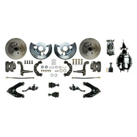 "Power Front Conversion with 8"" Dual Chrome Brake Booster & Master, Calipers & more"