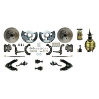 "Power Front Conversion with 8"" Dual Brake Booster & Master, Calipers & more"