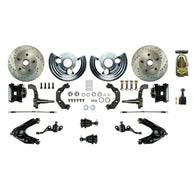 Manual Front Conversion w/ Master Cylinder & Valve, 2 Black Calipers, 2 Rotors & more