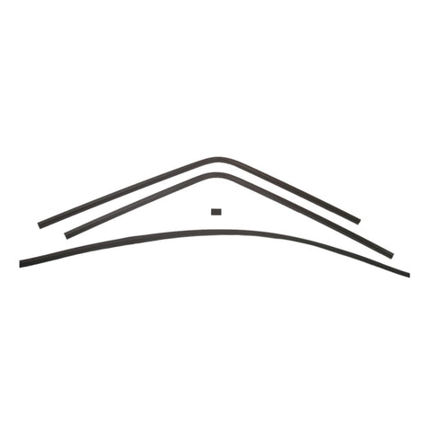 1968-1970 Plymouth Road Runner, Satellite, and GTX Interior Rear Window Trim, 4 Piece Set with Lower Section