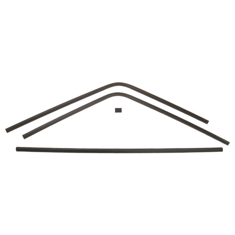 1968-1970 Dodge Charger Interior Rear Window Trim, 4 Piece Set Does Not Include Lower Corners