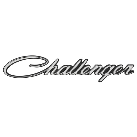 1970 Challenger Front Fender Emblem Script, Sold as Each