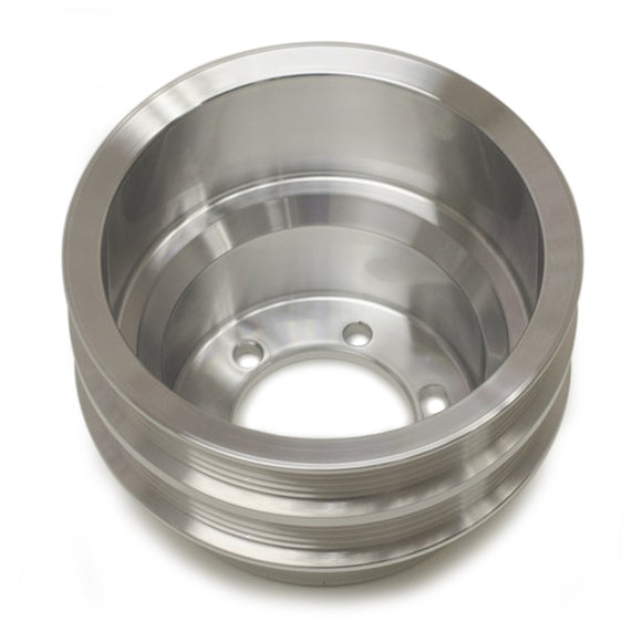 Crank Pulley Dual Serp Polished Mopar SB/BB