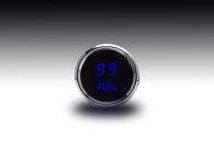 "LED Digital Fuel Gauge 2  1/16"" 0 to 99 %, programmable GM, Ford, Chrysler, VDO, Universal  w/chrome plated bezels"