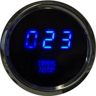"LED Digital Trans Temp 2  1/16"" 50 to 350 Degrees F° w/ chrome bezel ( Includes sender)"