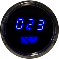 "LED Digital Oil Temperature Gauge 2  1/16"" 50 to 350 Degrees F° w/ chrome  bezel( Includes sender)"