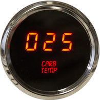 "LED Digital Carburetor Temperature Gauge 2 1/16"" 0 to 250 Degrees  F°  w/ chrome bezel bezel (sender included)"