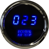 "LED Digital Incoming Air Temperature Gauge 2 1/16"" 0 to 250 Degrees  F° w/ chrome bezel (sender included)"
