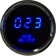 "LED Digital Inside Air Temperature Gauge 2 1/16"" 0 to 250 Degrees  F°  w/ chrome bezel (sender included)"