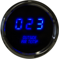 "LED Digital Outside Air Temperature Gauge 2 1/16"" 0 to 250 Degrees  F°  w/ chrome bezel (sender included)"