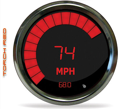 LED Digital/Bargraph Memory Speedometer/Tachometer combo, 3 3/8