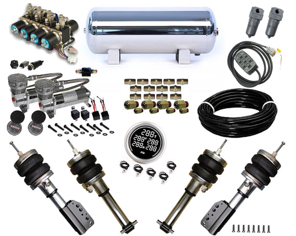 2004-2012 Porsche 987 Boxster, Cayman Plug and Play Air Suspension Kit