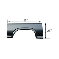 RRP240 1980-1986 FORD PICKUP EXTENDED WHEEL OPENING- N/HOLE- PASSENGER SIDE [RH]- 39in X 16in
