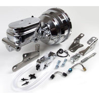 "Signature Brake Booster and Master Cylinder Combo with  8"" Chrome Booster - Disc/Drum Conversions"
