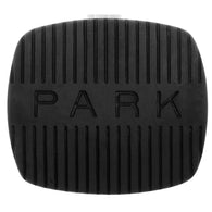 Emergency brake pedal pad with inverted letter for 58-64 Chevrolet, Del Ray, Biscayne, Bel Air, Impala