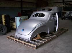 1940 Ford Coupe Body With Stock Firewall, Doors & Deck Lid