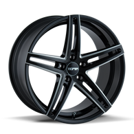TR73 Series  GLOSS BLACK/MILLED SPOKES