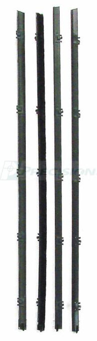 WFK 1110 67 A 1967 - 1972  C10 Pickup Front Door - Beltline Kits  Black