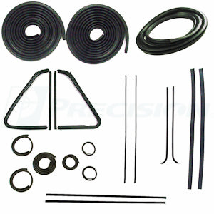 CWK 1112 54 1954 - 1955  GMC and Chev Pickup - Complete Weatherstrip Kits  No Trim Groove