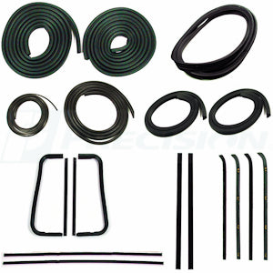 CWK 1110 60 1960 - 1963  C10 Pickup  - Complete Weatherstrip Kits  Trim Groove - Chrome