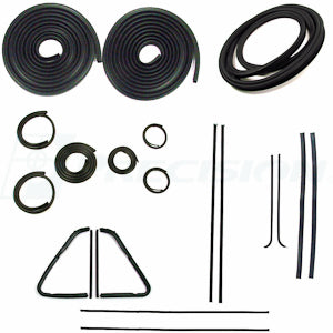 1954 - 1955  GMC and Chev Pickup - Weatherstrip Kit  With Trim Groove