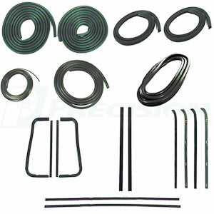 CWK 1111 60 1960 - 1963  C10 Pickup  - Complete Weatherstrip Kits  For Metal Framed Door Glass No Trim Groove