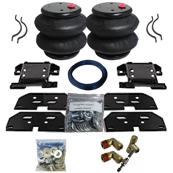 2003-2013 Dodge Ram 2500, 3500 Tow Assist Helper Air Bag Kit (Manual Fill Kit Included)