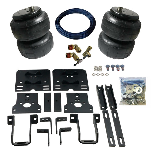 2005-2010 Ford Super Duty Tow Assist Helper Air Bag Kit (Manual Fill Kit Included)