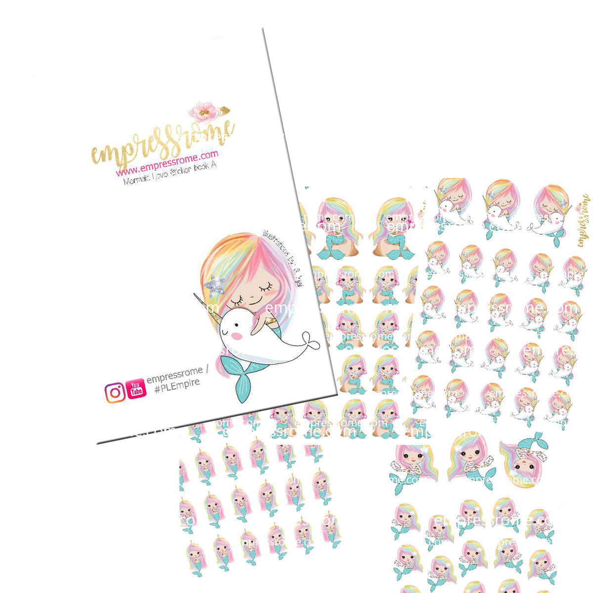 STICKER BOOK: MERMAID LOVE SET A