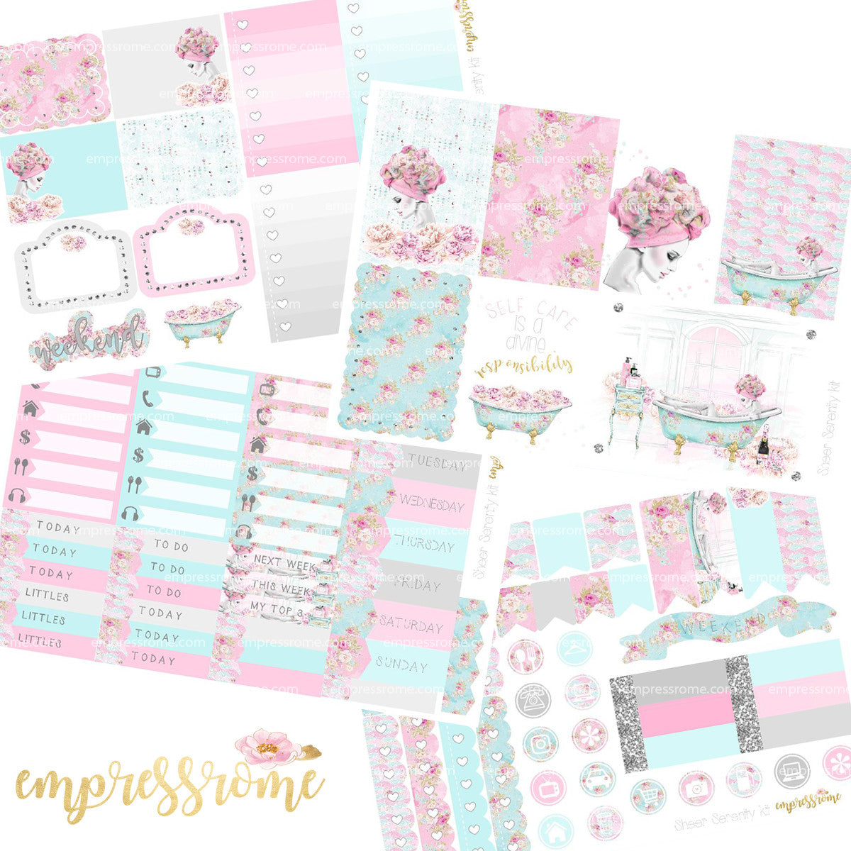 STICKER KIT: SHEER SERENITY