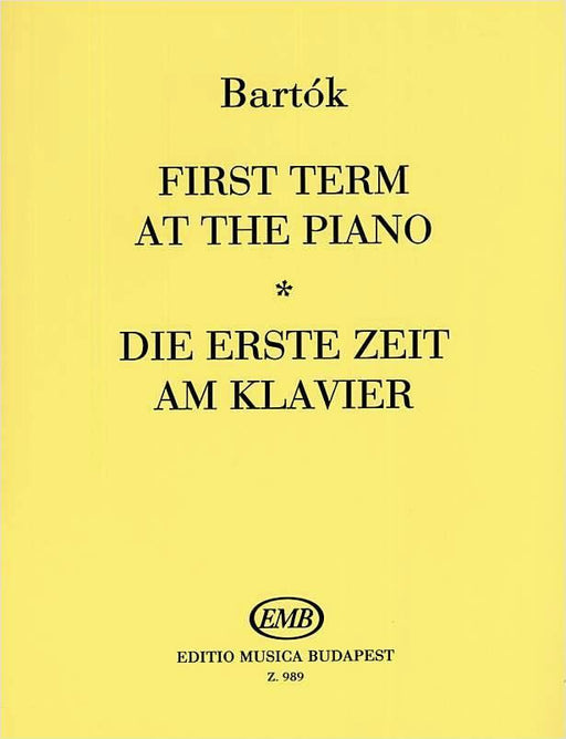 Bartok First Term at the Piano