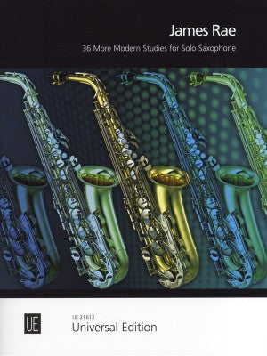 James Rae, 36 More Modern Studies for Solo Saxophone