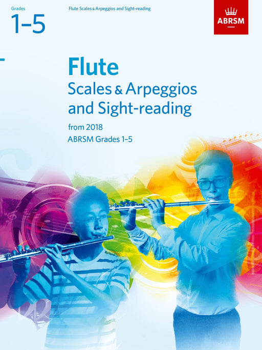 ABRSM Flute Scales, Arpeggios and Sight-Reading Grades 1-5 from 2018
