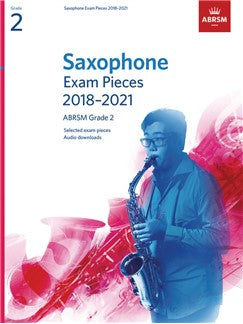 ABRSM Saxophone Exam Pieces Grade 2 from 2018