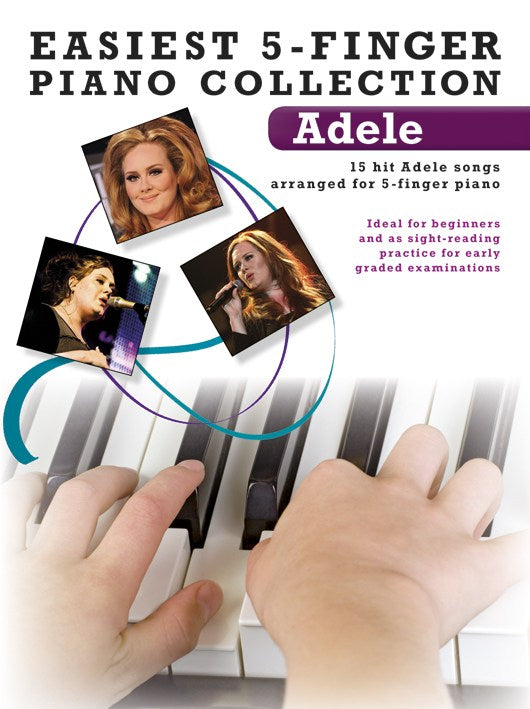Adele Easiest 5-Finger Piano Collecction