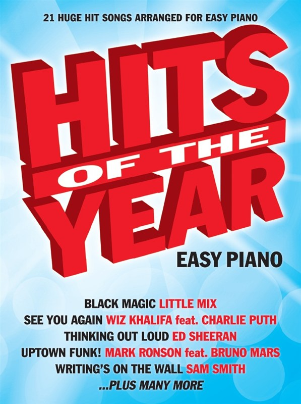 Hits of the Year Easy Piano