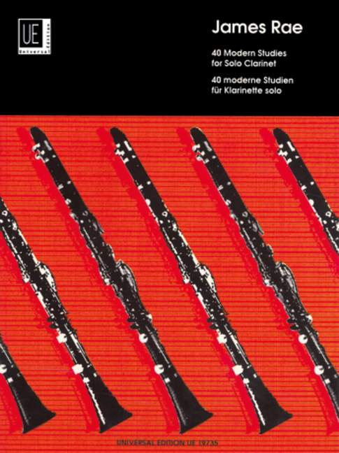 James Rae 40 Modern Studies for Solo Clarinet