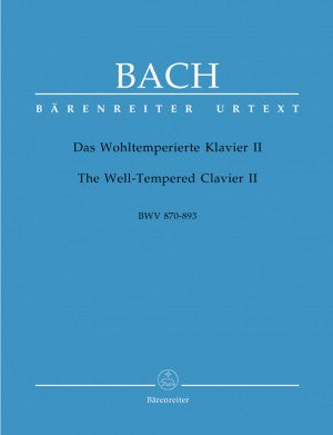 Bach, JS The Well Tempered Clavier Book 2 BWV 870- 893