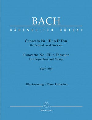 Bach, JS Concerto No. III in D Major BWV 1054