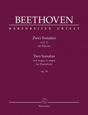 Beethoven Two Sonatas in E Major, G Major Op. 14