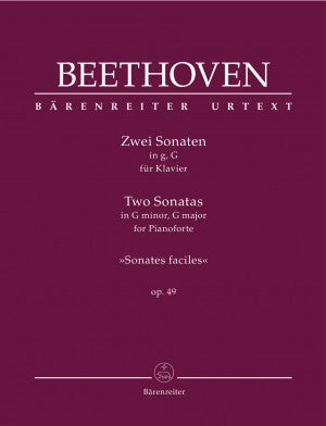 Beethoven Two Sonatas in G Minor, G Major Op. 49 (Sonatas Faciles)