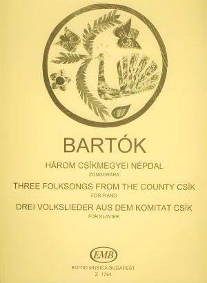 Bartok Three Folksongs from The County Csik for Piano