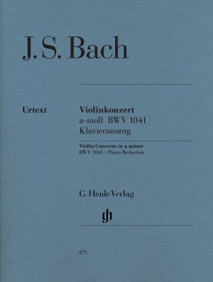 Bach, JS Concerto for Violin and Orchestra in a minor BWV 1041