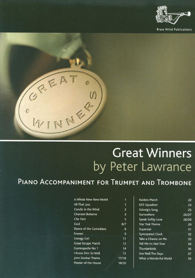 Great Winners By Peter Lawrence Piano Accompaniment