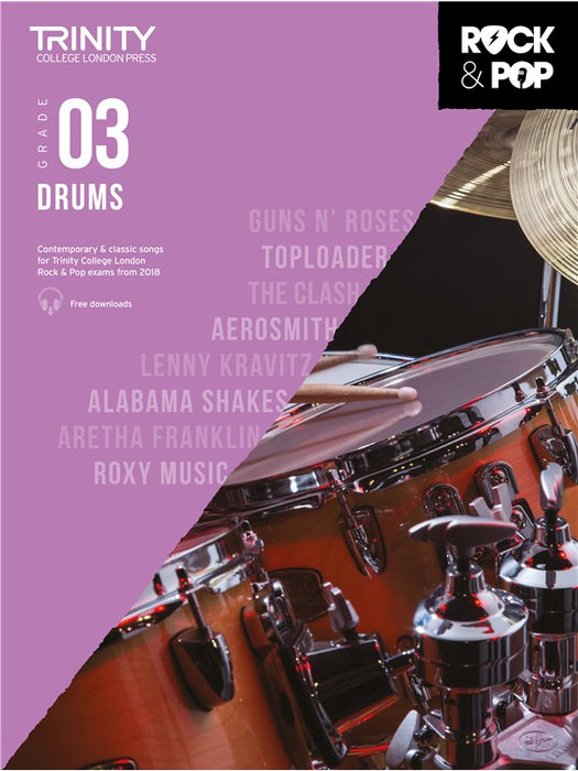 Trinity Rock & Pop Drums, Grade 3 from 2018